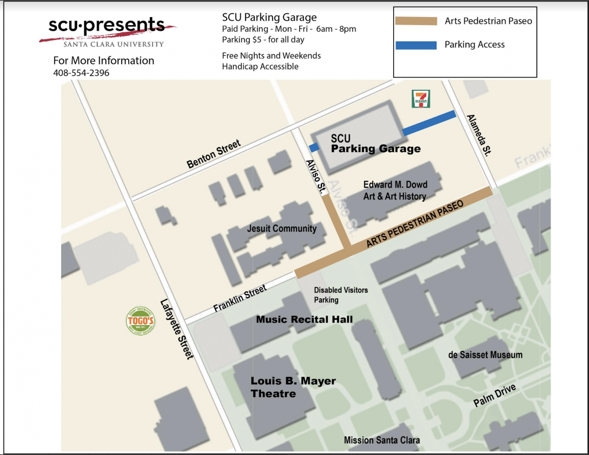 Directions & Parking | SCU Presents on